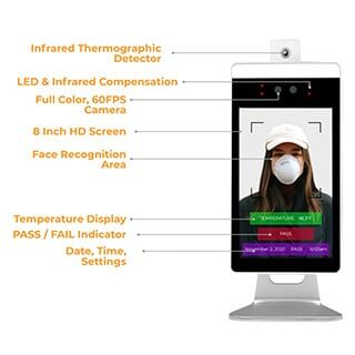 contactless thermographic detector